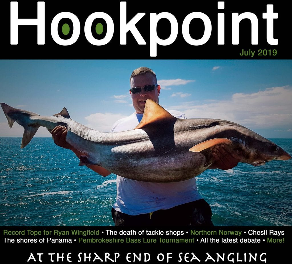 Hookpoint Fishing Magazine July record Tope Ryan Wingfield