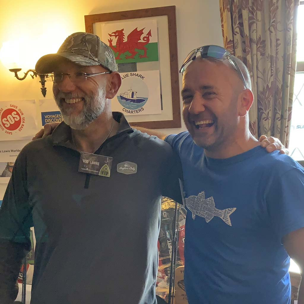 Mervyn Bousie and Rob Lawrie at the pembrokeshire bass lure tournament