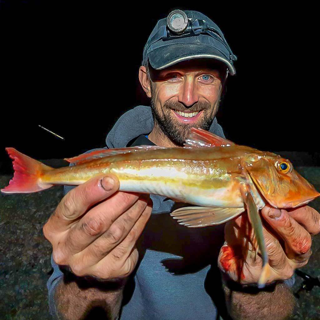 Red Gurnard Chesil caught by Rob Stammas
