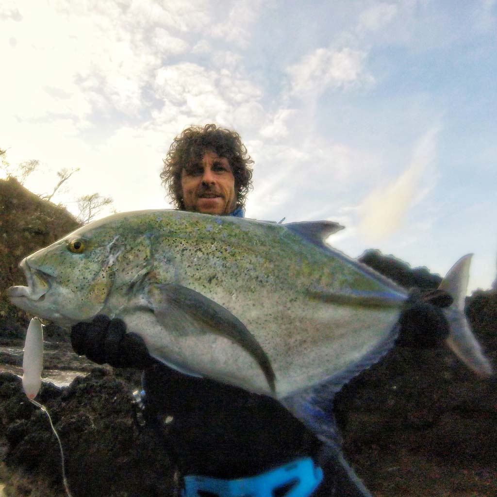 Grant woodgate with a blue fin jack from panama