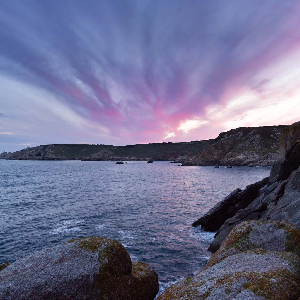 purple cornish sunset