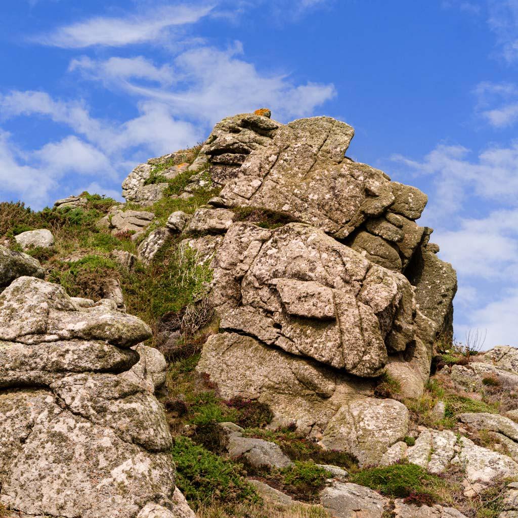 Cornish rocks coastline