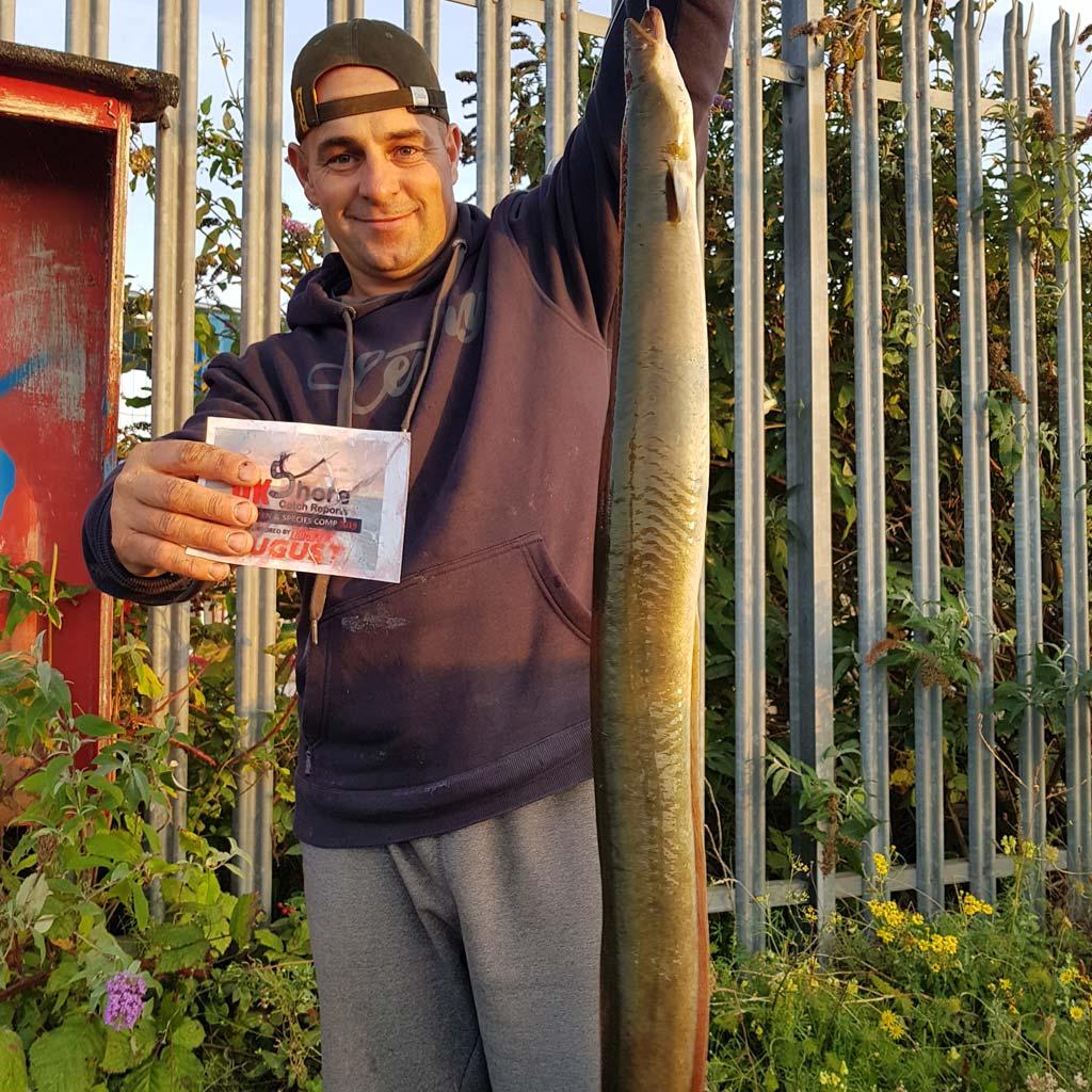 a specimen silver eel for Gareth Griffiths