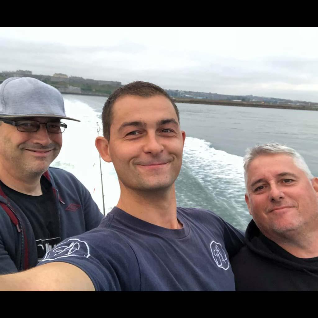 motoring out on the boat john locker