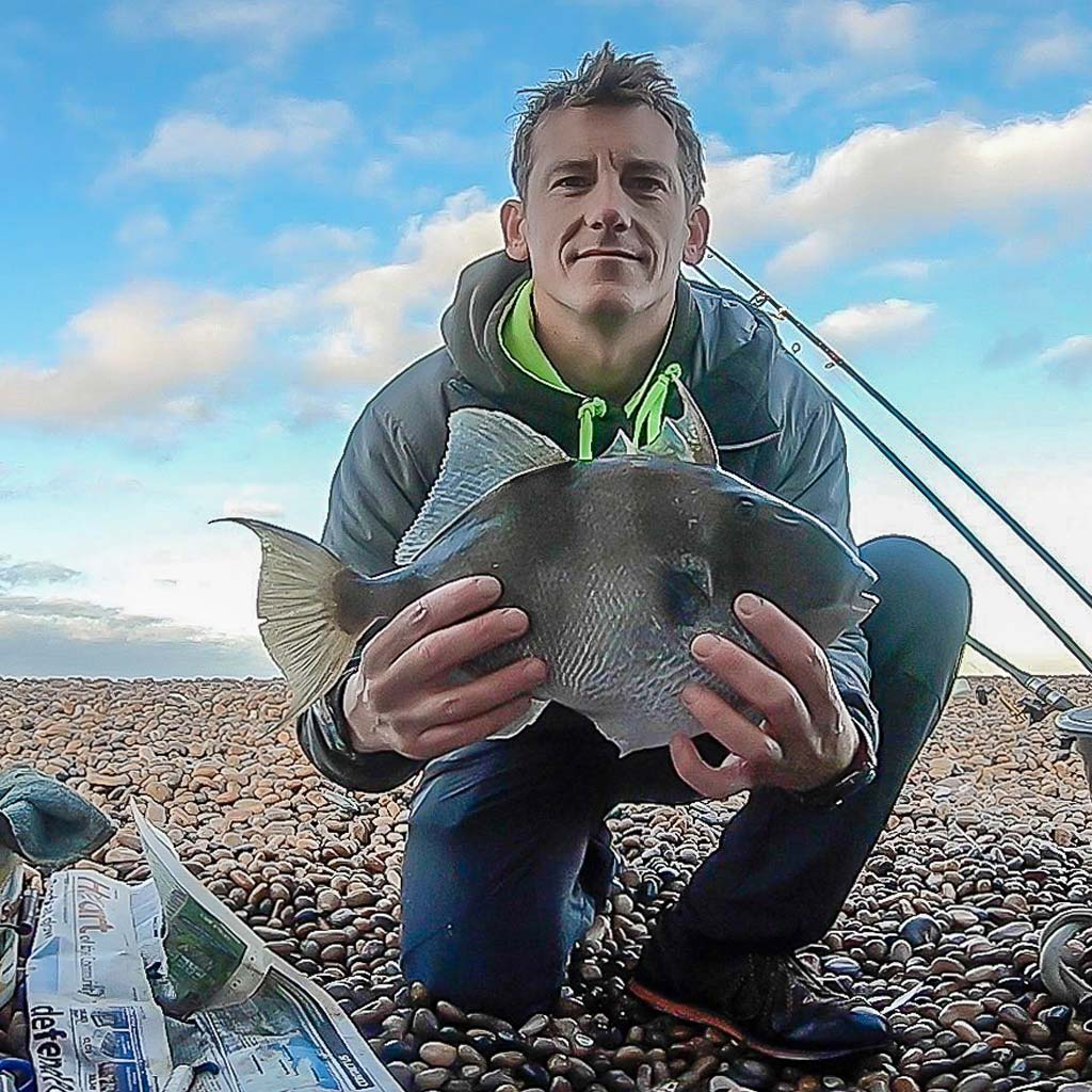 Rob Johansen with a trigger fish