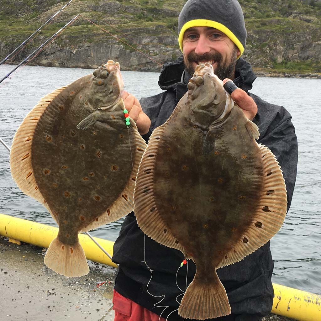 A fine brace of Norway plaice for Rob Stammas