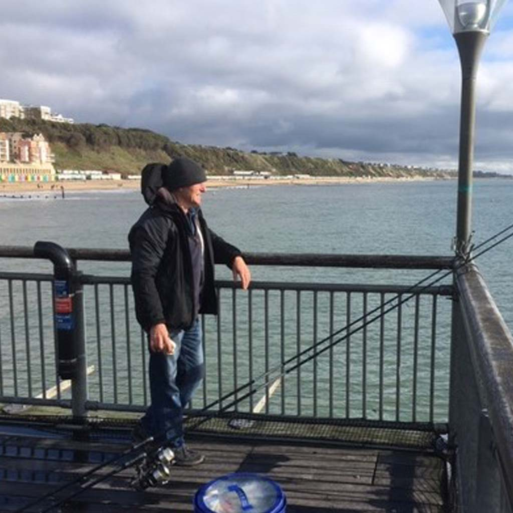fishing on the end of boscombe pier
