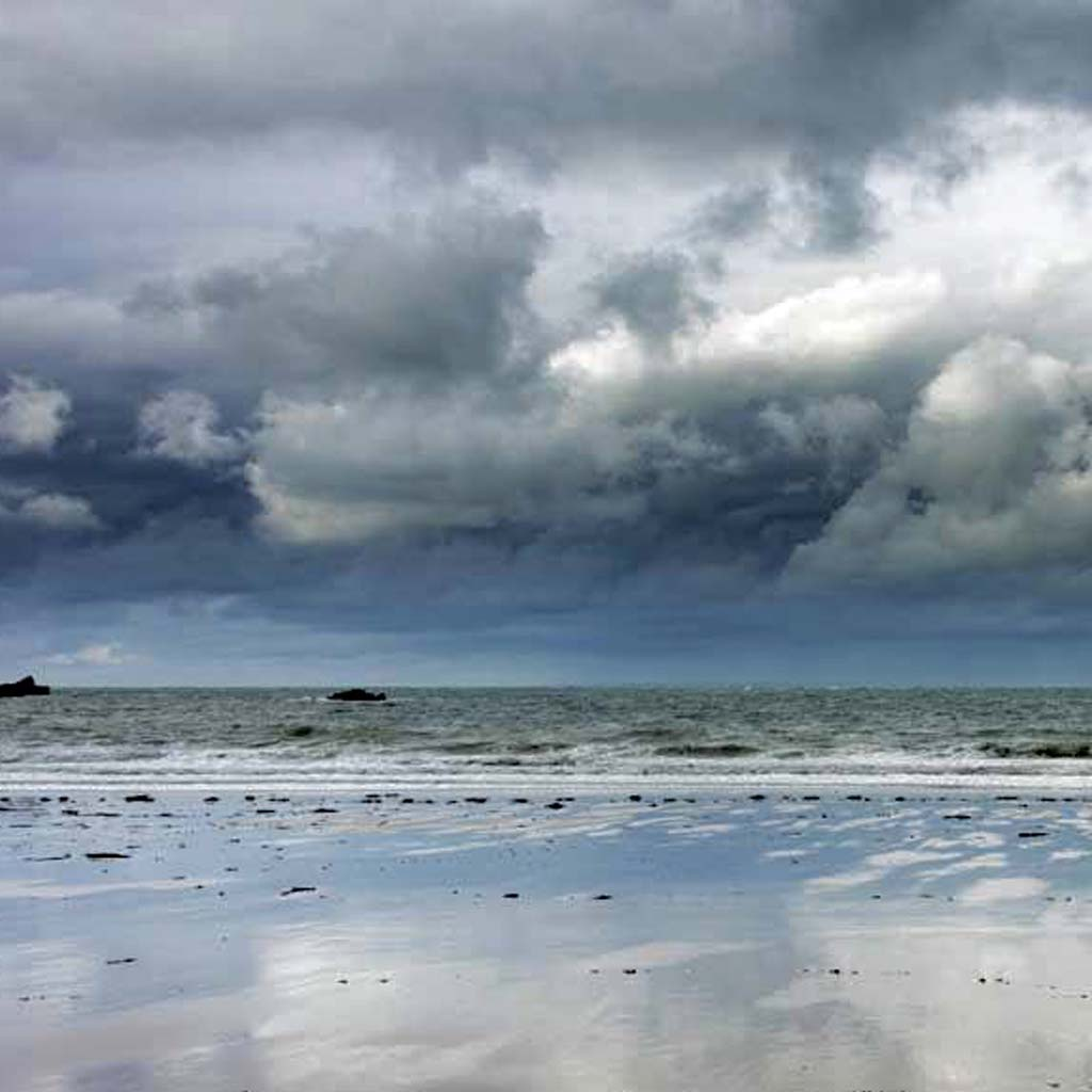 stormy jersey beach