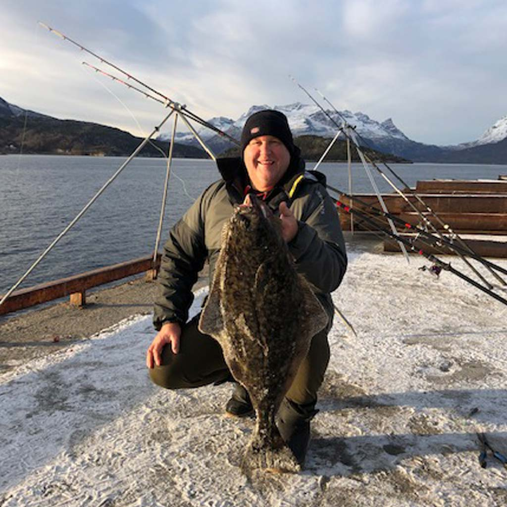 a small halibut caught in norway