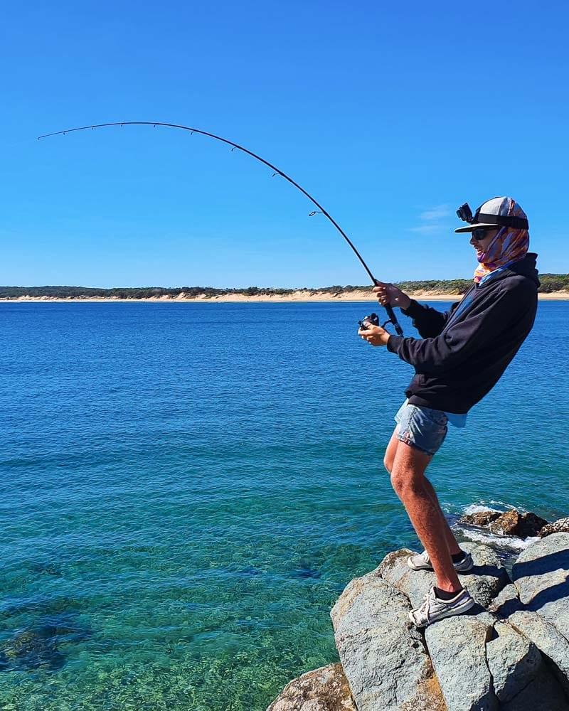 matt mcculloch plays a longtail tuna on light gear