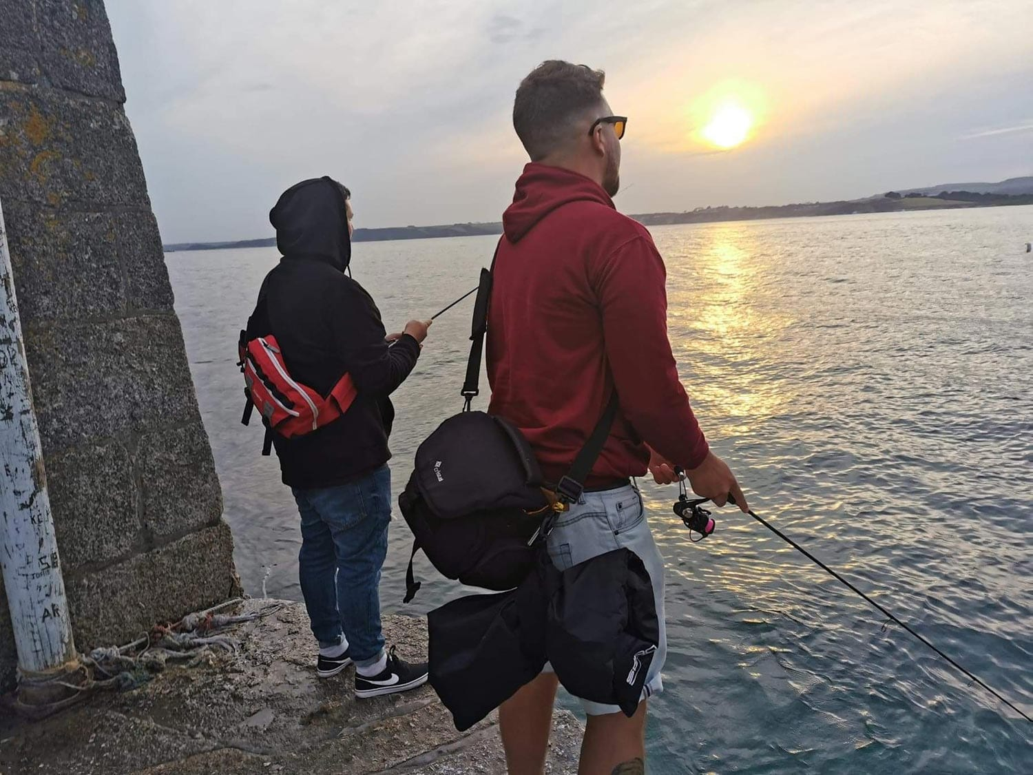 LRF fishing from the end of a solid jetty