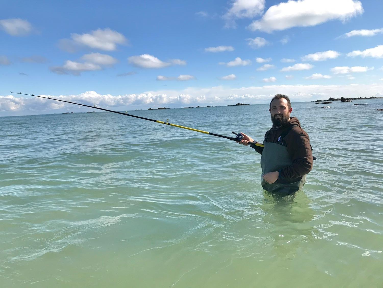Wading in Jersey targeting bass