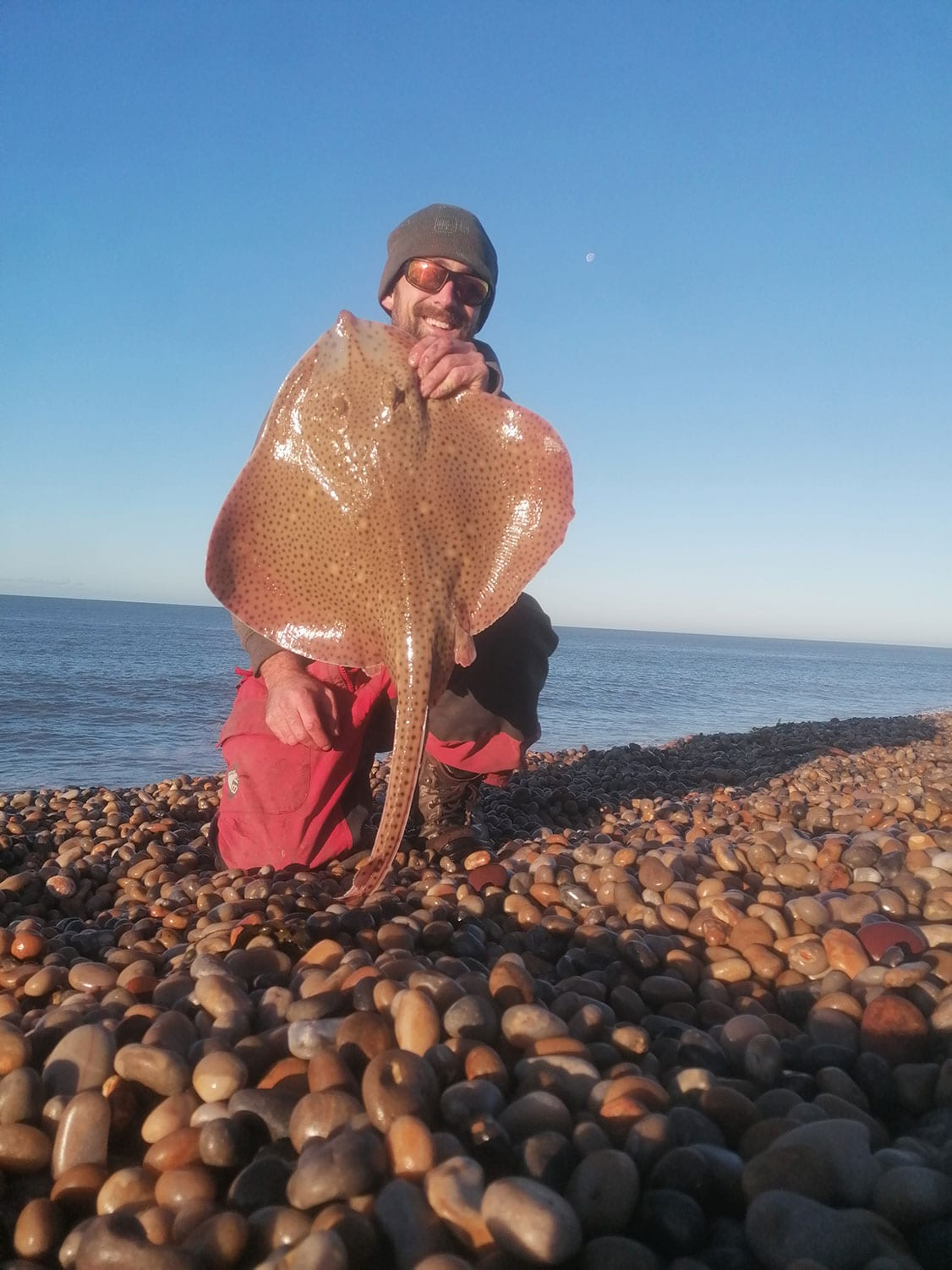 rob stammas with a chesil blonde ray
