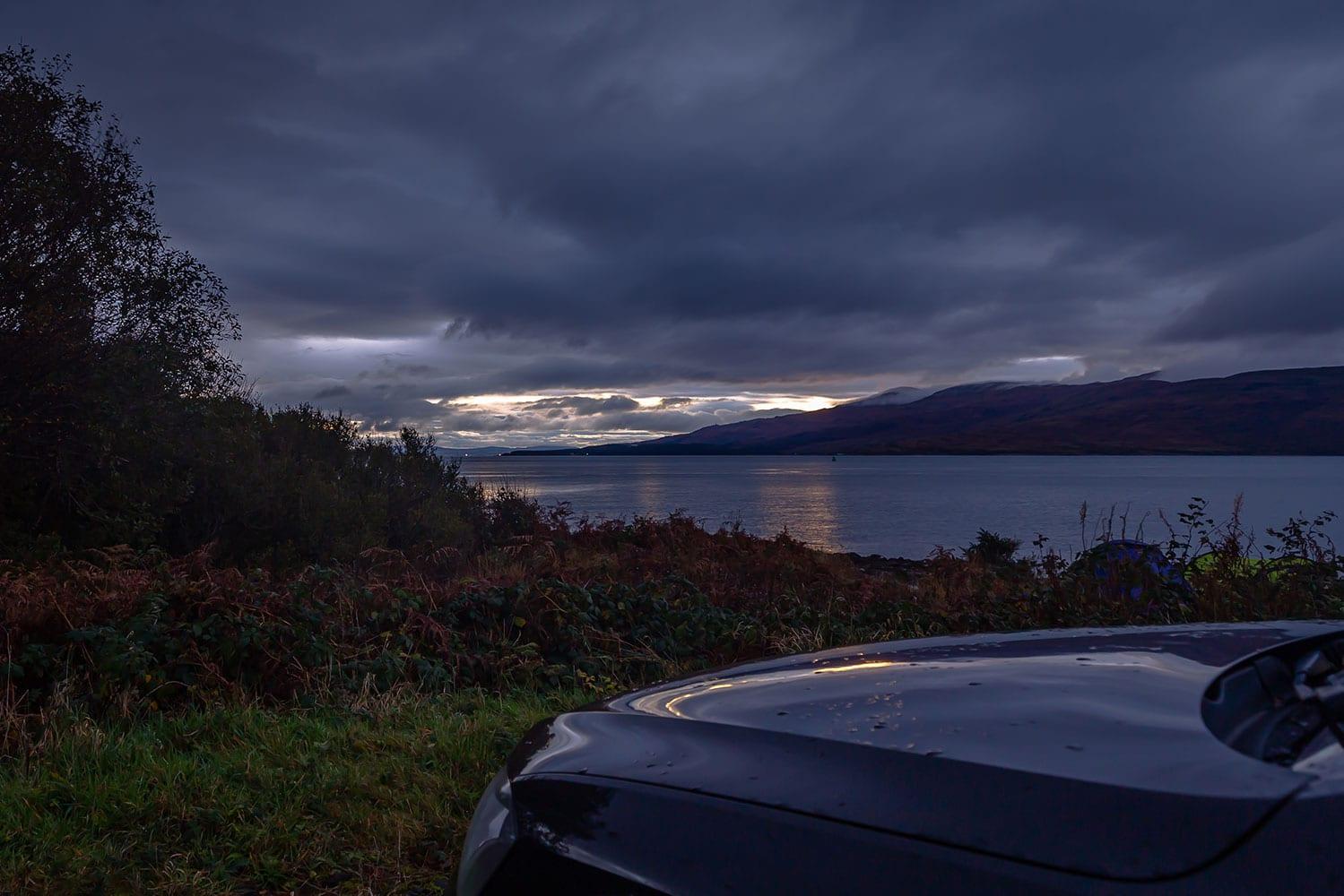 a moody scottish highlands sky